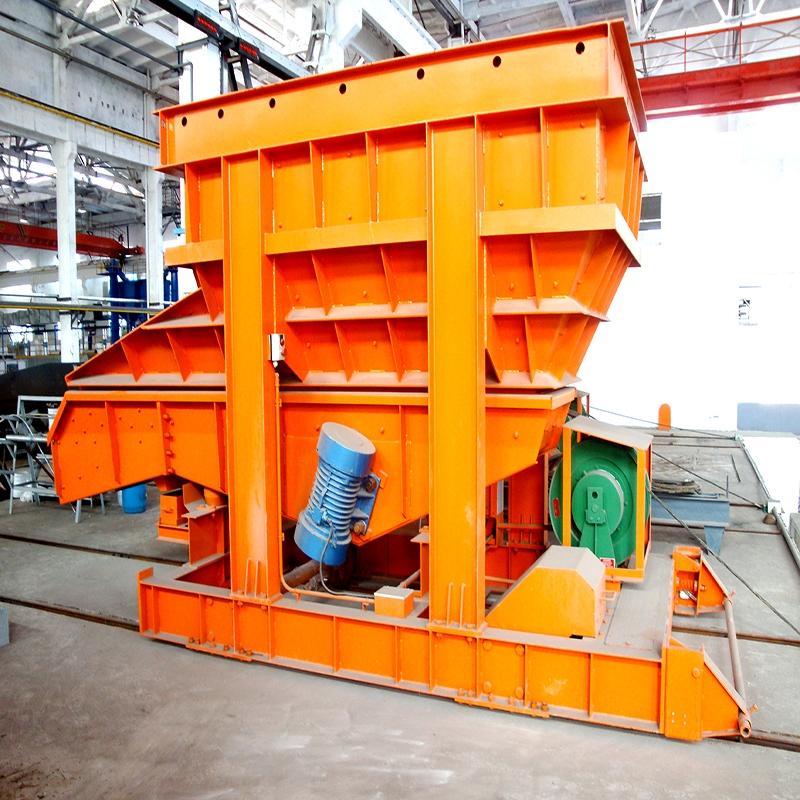 炼钢厂振动加料车案例