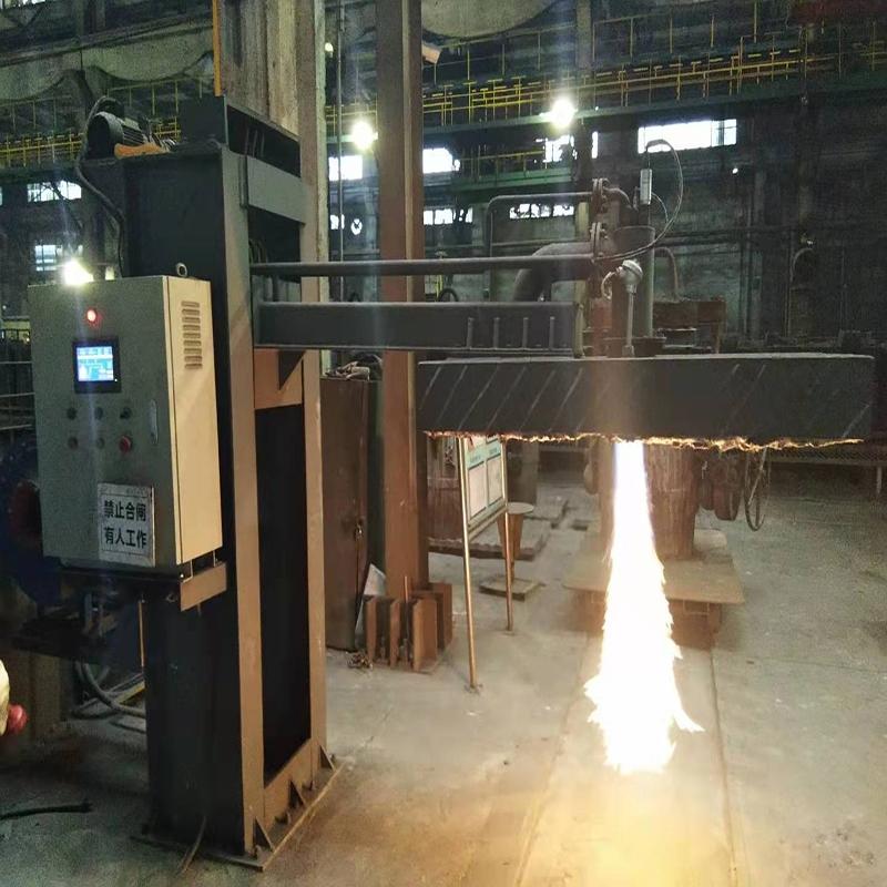 柳工集团全自动钢包烘烤器使用现场